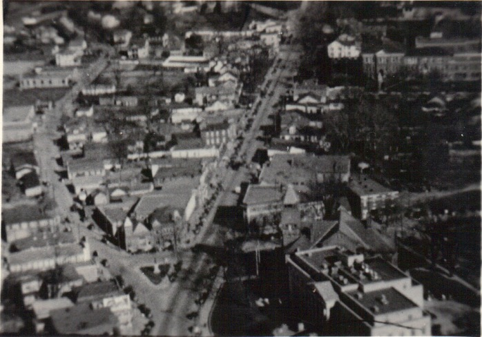 1920s aerial view looking over Rockville