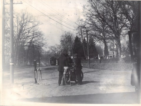 1915 Rockville Garage First Gas Pump