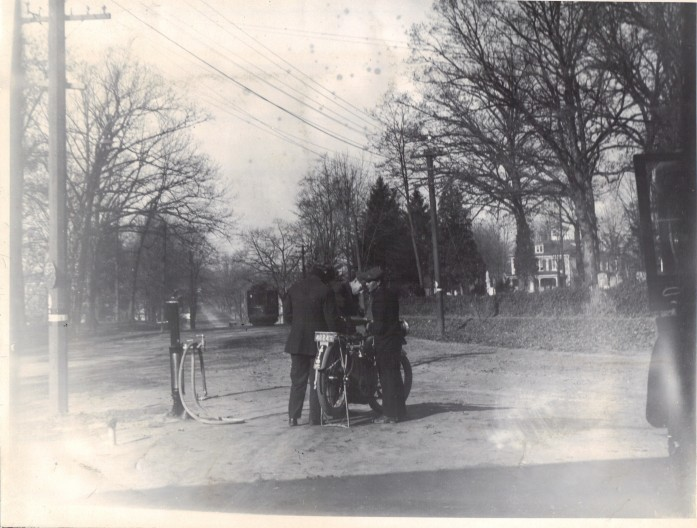 1915 Rockville Garage First G as Pump