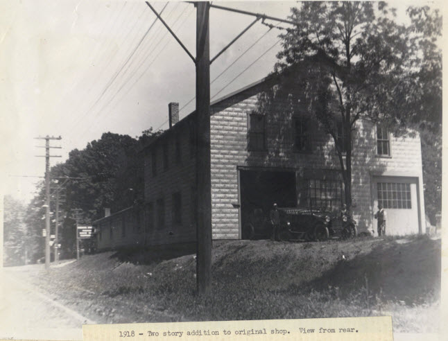 1918 Two Story Addition to Original Shop. View From Rear