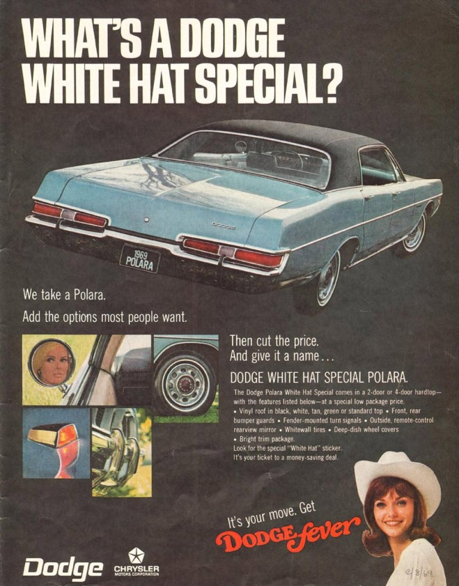 1969 Dodge Polara White Hat Special