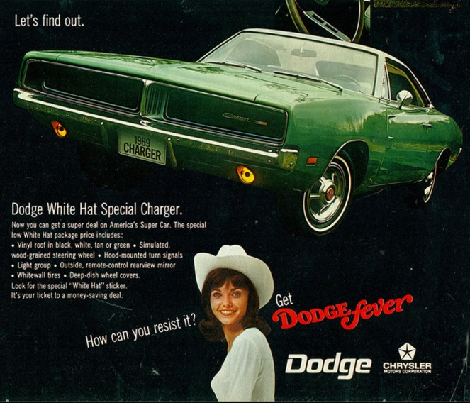 1969 Dodge White Hat Special Charger Advertisement