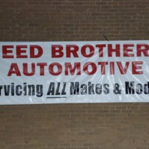 Reed Brothers Automotive Signs Go Up