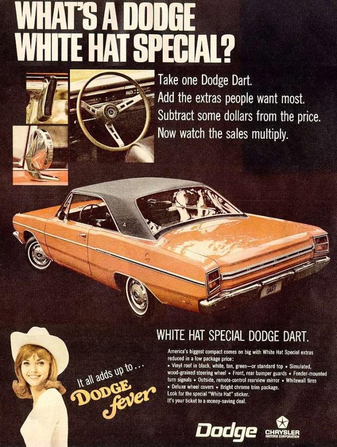 Dodge White Hat Special Dodge Dart