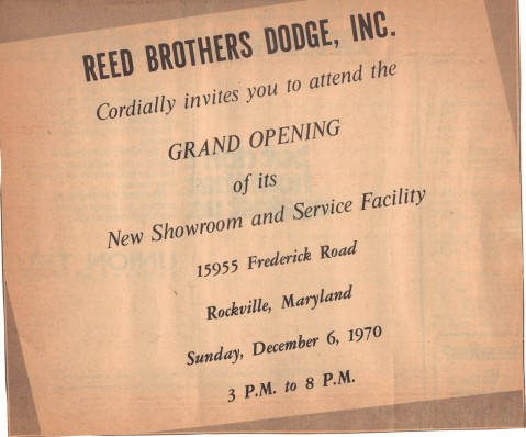 Grand Opening Annoucement Reed Brothers Dodge