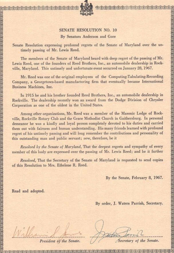 Senate Resolution