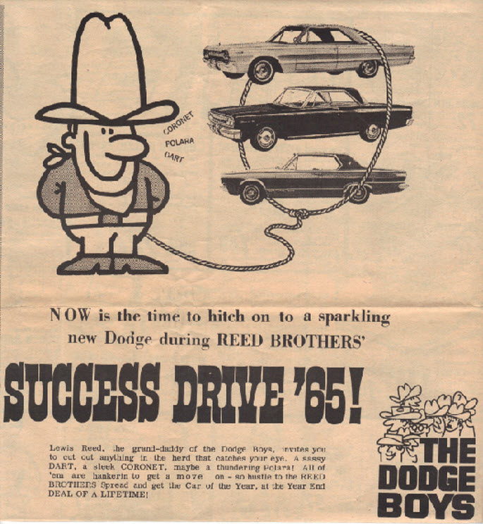 Ads Through The Years Reed Brothers Dodge History 1915