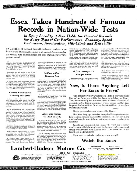 Rockville Garage – The Washington Post Sunday, July 18, 1920, Washington, District Of Columbia