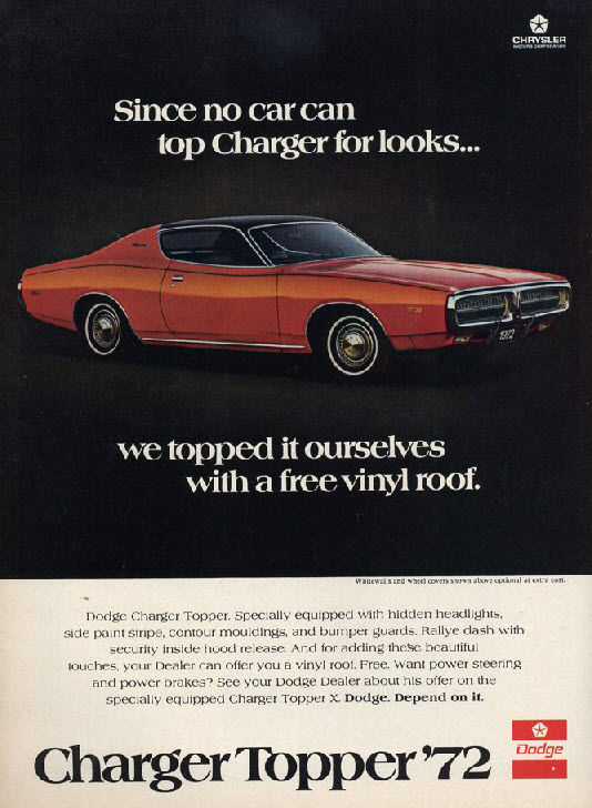 Vintage Auto Roof Topper Advertisements