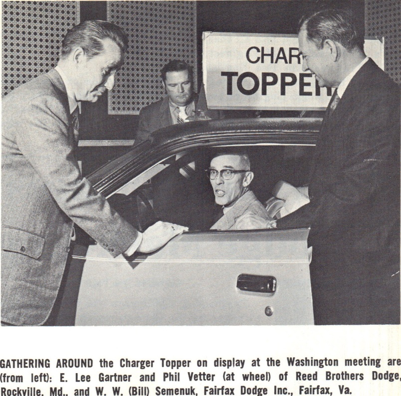 1972 Washington Auto Show Reed Brothers Dodge History