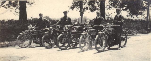 Lewis Reed on motorcycle