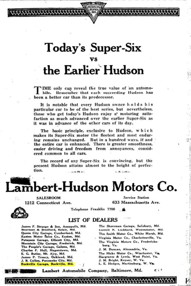 Rockville Garage - Washington Post, The - Sunday, July 11, 1920, Washington, District Of Columbia
