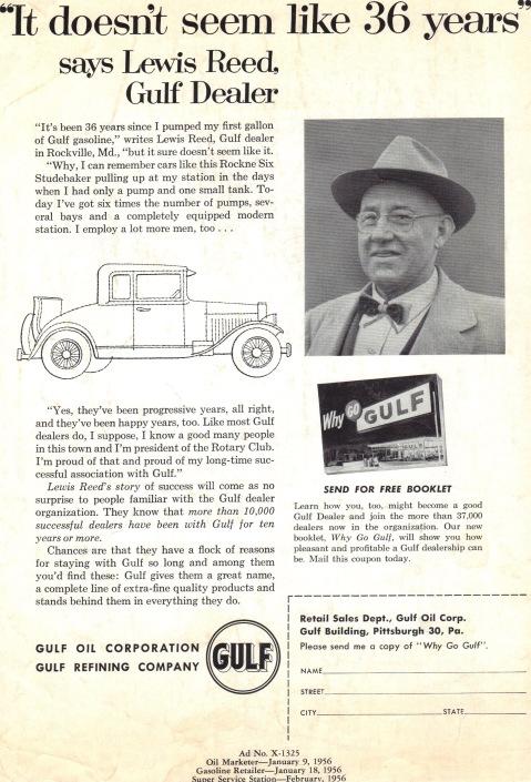 Gulf Gas 1956