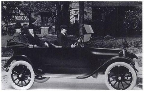 John & Horace Dodge in one of their 1914 Tourers
