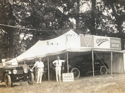 1918 – Rockville Garage displaying their new models at the Rockville Fair Grounds