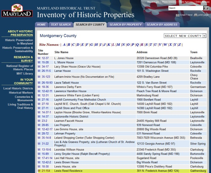 MD Inventory of Historic Properties