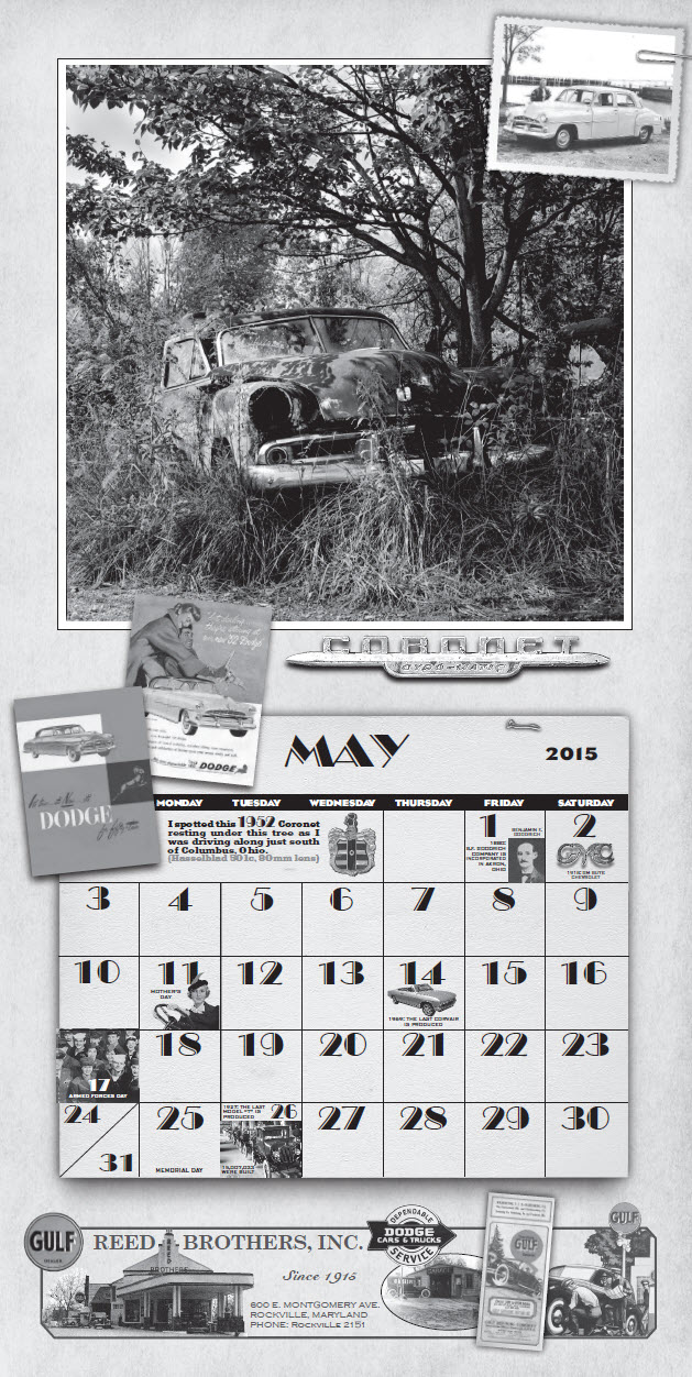 May Calendar History : Md dodge reed brothers history