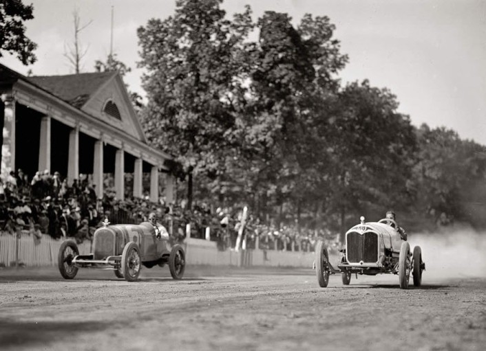 "August 25, 1923. Montgomery County, Maryland. ""Auto races, Rockville Fair."""