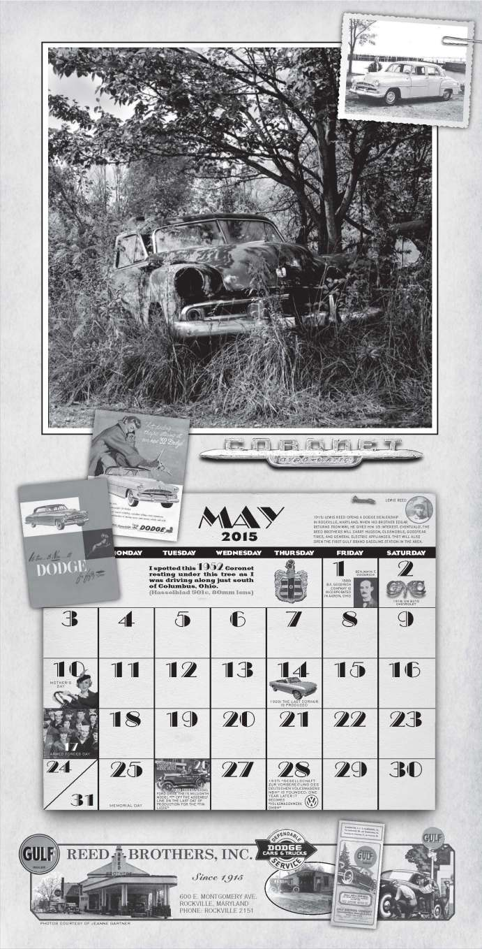 Reed Brothers Dodge MAY 1952 Dodge Calendar