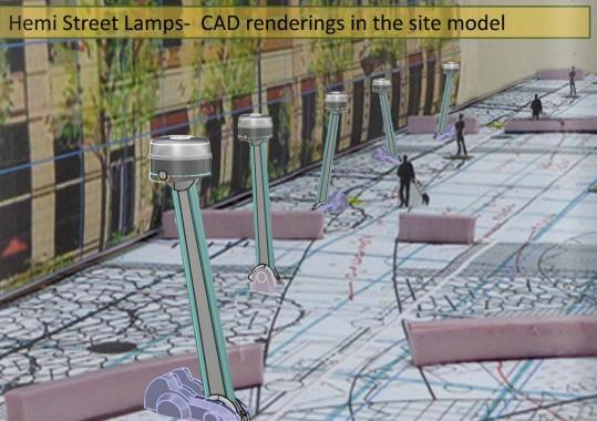 Light Dodger Hemi Street Lamps