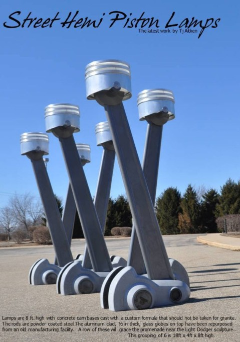 Hemi Piston Street Lamps