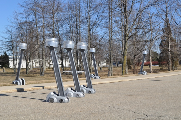 Hemi Piston Street Lamps