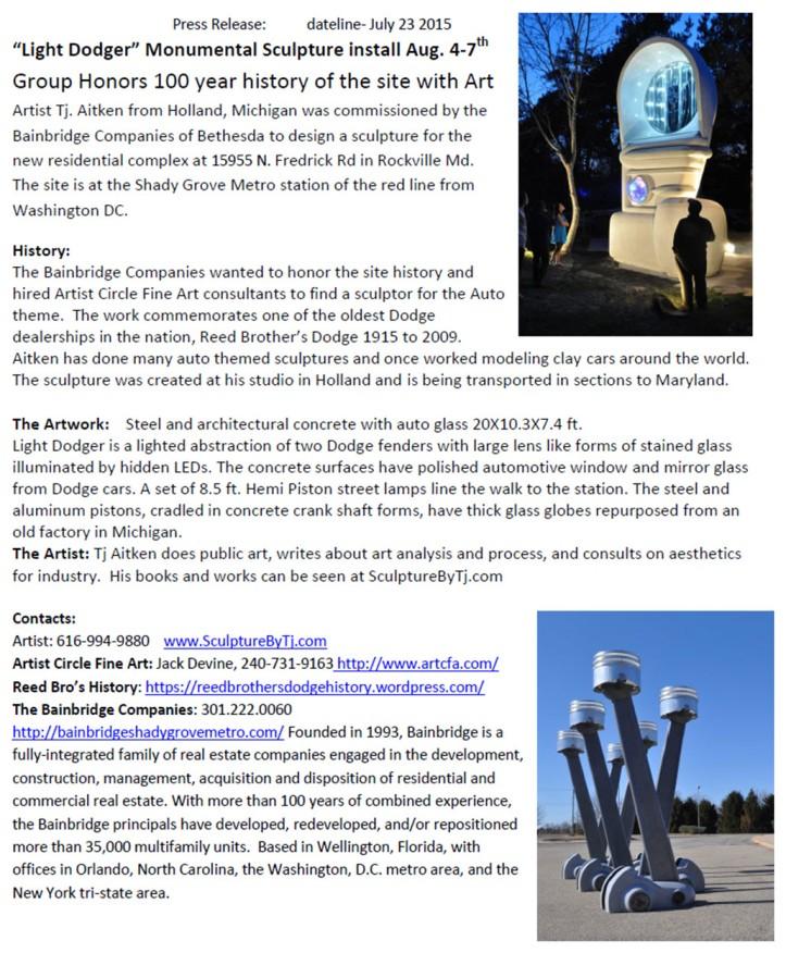 Light Dodger Installation Press Release