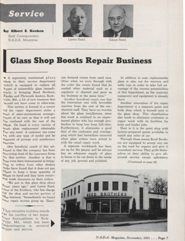NADA Magazine Glass Shop Boosts Repair Business