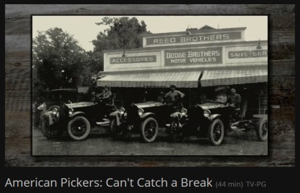 Reed Brothers Dodge on American Pickers