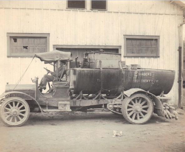 vintage paving truck