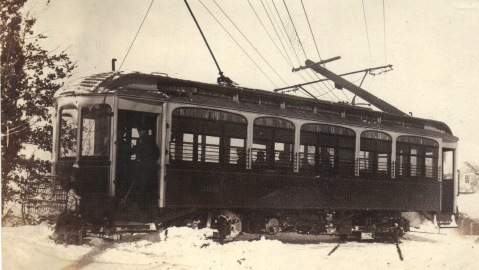 Derailed trolley - Montrose & 355