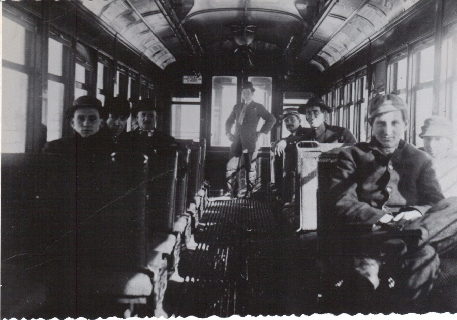 1920 Trolley car interior