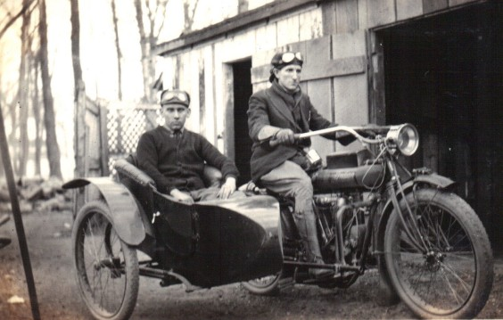 1914 Indian motorcycle with Sidecar