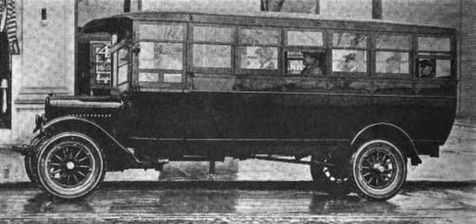 1922 GMC 20-passenger motor bus