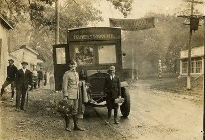 1922 Bus Stop in Rockville, Maryland