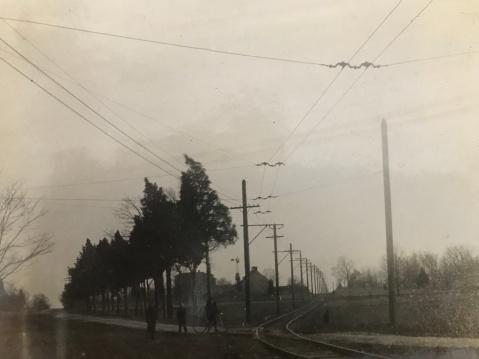 Trolley tracks on Rockville Pike