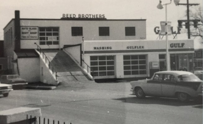 Reed Brothers Dodge Auto Glass and Body Repair Shop 1968