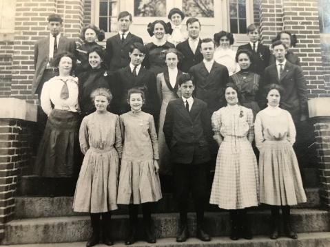 1910 Montgomery County High School class photo