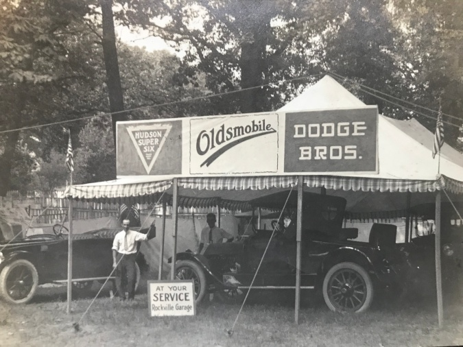 Rockville Garage at Rockville Fair 1918