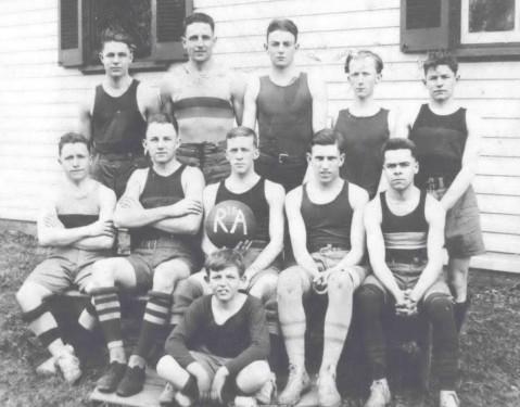 Rockville Academy Basketball Team 1915-1916