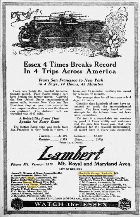 1920s Hudson & Essex ads