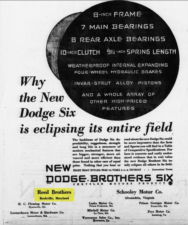 1929 Dodge Brothers Six Ad