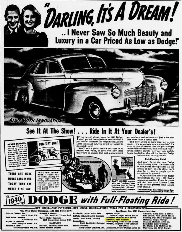 1939 vintage Dodge ad