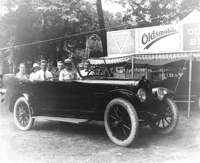 Rockville Garage at Fairgrounds 1918