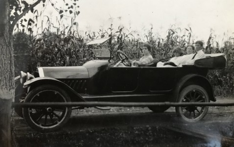 early 1920s touring car