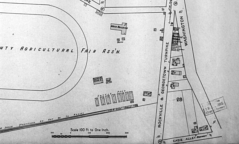 1915 Rockville Maryland Sanborn Map
