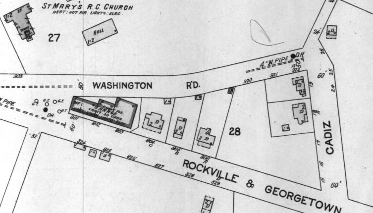 1924 Rockville Maryland Sanborn Map
