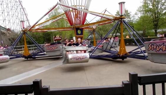 Scrambler carnival ride