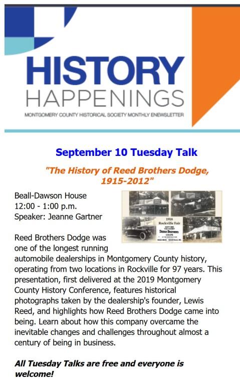 Montgomery History Tuesday Talks