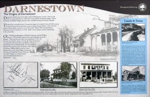The Origins of Darnestown Marker